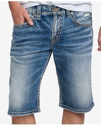 Silver Jeans Co. - Blue Men's Gordie Shorts for Men - Lyst