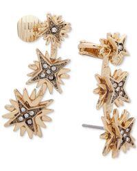 Ivanka Trump - Metallic Gold-tone Layered Star Crystal Ear Climbers - Lyst