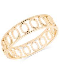 Ivanka Trump - Metallic Geometric Open Bangle Bracelet - Lyst