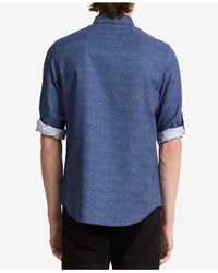 CALVIN KLEIN 205W39NYC - Blue Men's Half Dot-print Roll-cuff Shirt for Men - Lyst
