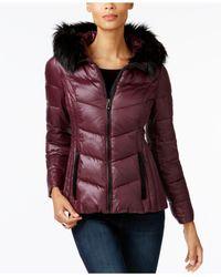 INC International Concepts - Multicolor Faux-fur-trim Puffer Coat - Lyst