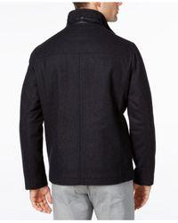 Perry Ellis - Multicolor Men's Big & Tall Full-zip Stand-collar Coat for Men - Lyst