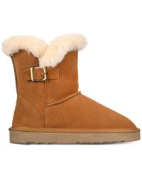 Style & Co. - Brown Tiny Low Shaft Faux-fur Cold Weather Booties - Lyst