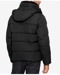 Marc New York - Black Men's Quilted Jacket With Removable Hood And Collar for Men - Lyst