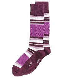 Alfani - Purple Colorblocked Socks, Created For Macy's for Men - Lyst