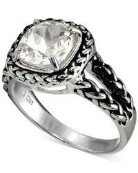 Giani Bernini - Metallic Cubic Zirconia Braided Look Ring In Sterling Silver - Lyst