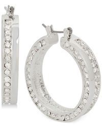 Touch Of Silver - Metallic Crystal Earrings In Silver-plate - Lyst