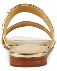 Marc Fisher - Metallic Faee Two-piece Slide-on Sandals - Lyst
