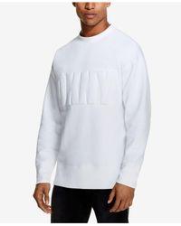 DKNY - White Raised Logo Sweatshirt, Created For Macy's for Men - Lyst