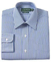 Lauren by Ralph Lauren - Non-iron Blue Bengal Stripe Dress Shirt for Men - Lyst