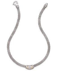 Macy's - Metallic Diamond Fleur De Lis Necklace (1/5 Ct. T.w.) In Sterling Silver And 14k Gold-plated Sterling Silver - Lyst