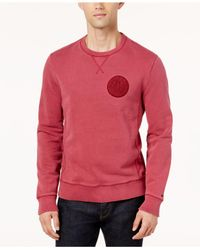 Tommy Hilfiger - Pink Men's Patch-logo Sweatshirt for Men - Lyst