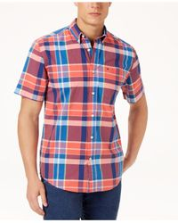Tommy Hilfiger - Red Payne Plaid Shirt, Created For Macy's for Men - Lyst