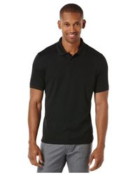 Perry Ellis - Black Two-button Polo for Men - Lyst