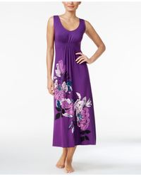 Alfani | Purple Floral-print Knit Nightgown | Lyst
