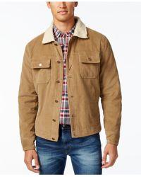 American Rag - Brown Men's Corduroy Trucker Jacket for Men - Lyst