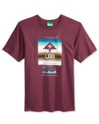 LRG Purple Men's Graphic-print T-shirt for men