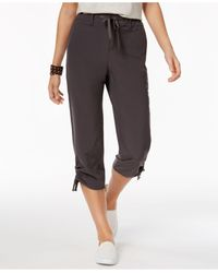 Style & Co. | Gray Ruched-leg Capri Pants | Lyst