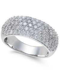 Macy's | Metallic Diamond Wide Pavé Band (1-1/2 Ct. T.w.) In 14k Gold Or White Gold | Lyst