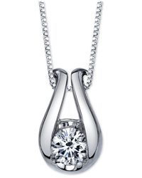 Sirena | Metallic Diamond Horseshoe Pendant Necklace (1/5 Ct. T.w.) In 14k White Gold | Lyst