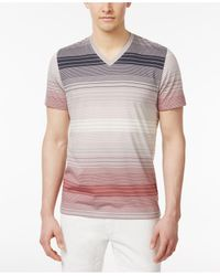 INC International Concepts | Multicolor Men's Striped Cotton V-neck T-shirt for Men | Lyst