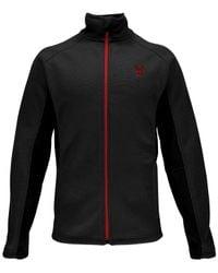 Spyder | Black Constant Zip Performance Sweater for Men | Lyst