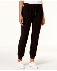Style & Co. - Black Drawstring Jogger Pants - Lyst
