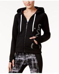 Calvin Klein | Black Logo Zip Scuba Hoodie | Lyst