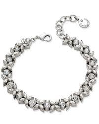 Charter Club - Metallic Silver-tone Crystal Link Bracelet - Lyst