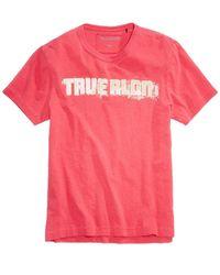 True Religion | Red Men's Football Graphic-print Logo T-shirt for Men | Lyst