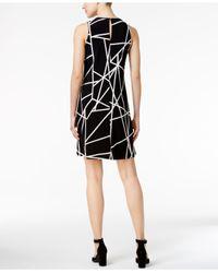 Tommy Hilfiger Black Geo-print Shift Dress