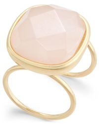 INC International Concepts | Metallic Gold-tone Pink Stone Ring | Lyst