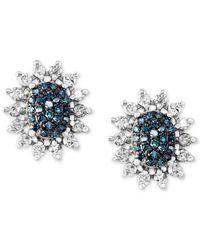 Effy Collection | Metallic Diamond Stud Earrings (9/10 Ct. T.w.) In 14k White Gold | Lyst