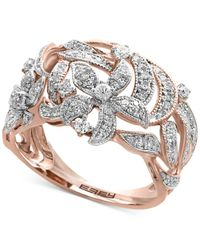 Effy Collection | Metallic Diamond Openwork Ring (5/8 Ct T.w.) In 14k Rose Gold | Lyst