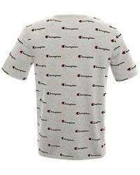 Champion | Gray Men's Cotton Logo-print Heritage T-shirt for Men | Lyst