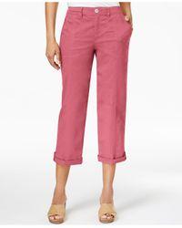 Style & Co. - Pink Cuffed Capri Pants - Lyst