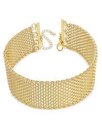 INC International Concepts   Metallic Wide Mesh Choker Necklace   Lyst