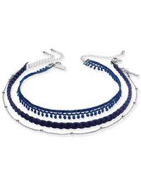 INC International Concepts - Silver-tone 3-pc. Set Blue Choker Necklaces - Lyst