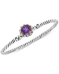 Effy Collection | Metallic Amethyst Twist Bangle Bracelet (2-3/4 Ct. T.w.) In Sterling Silver And 18k Gold | Lyst