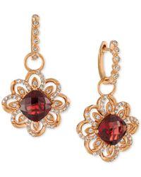 Le Vian - Metallic Pomegranate Garnet (5-5/8 Ct. T.w.) And Diamond (5/8 Ct. T.w.) Drop Earrings In 14k Rose Gold - Lyst