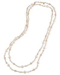 Carolee   Metallic Gold-tone Beaded Extra Long Necklace   Lyst