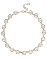 Charter Club | Metallic Gold-tone Imitation Pearl Necklace | Lyst
