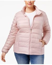 32 Degrees | Pink Plus Size Packable Puffer Coat | Lyst