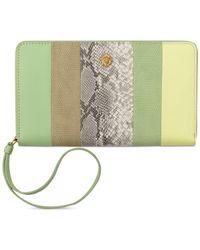 Anne Klein | Green Zip-around Smart Phone Wallet | Lyst