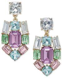 Charter Club | Metallic Gold-tone Multi-crystal Chandelier Earrings | Lyst