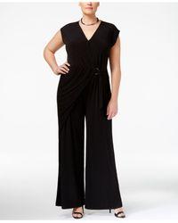 Michael Kors   Black Plus Size Wrap Jumpsuit   Lyst
