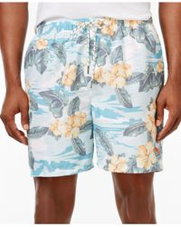 Tommy Bahama | Blue Men's Naples Camo Tiles Swim Shorts for Men | Lyst