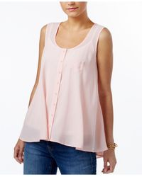 Style & Co. | Pink Sleeveless Blouse | Lyst