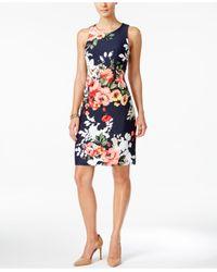 Charter Club | Multicolor Petite Floral-print Sheath Dress | Lyst