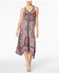 INC International Concepts - Multicolor Printed Handkerchief-hem Maxi Dress - Lyst